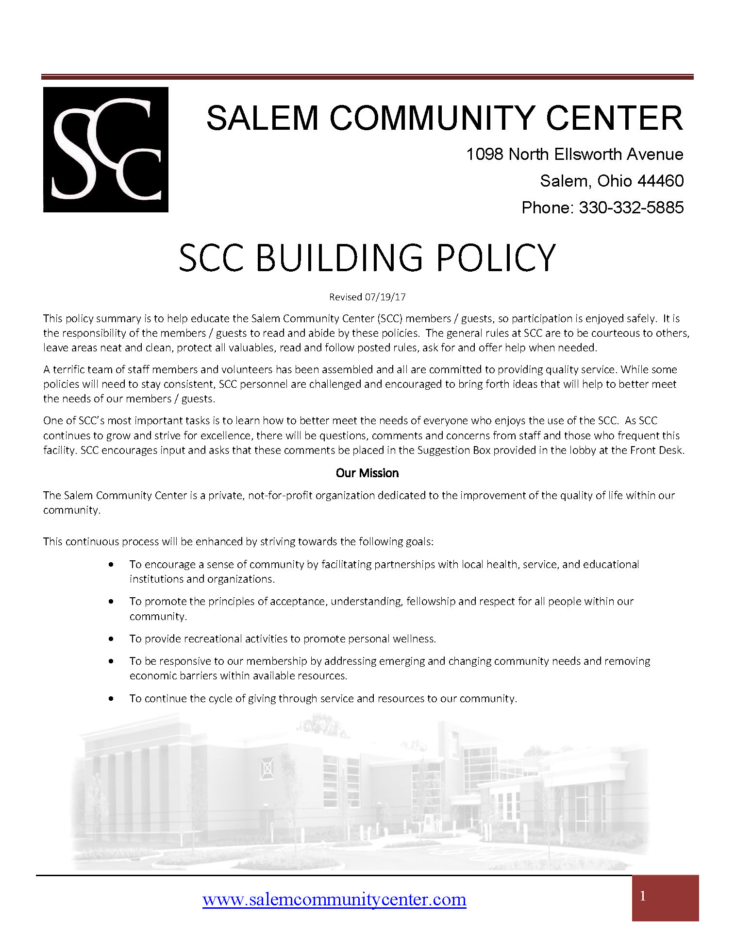 SCC Building Policy Revised 071917 Page 01