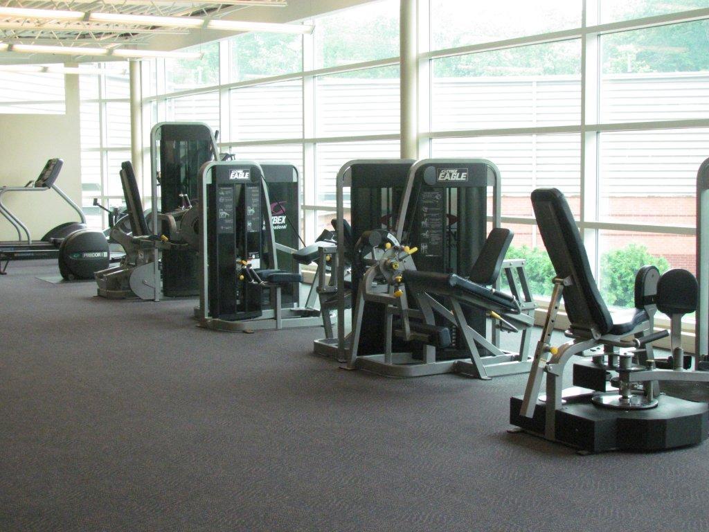 Salem Community Center Fitness Floor Equipment