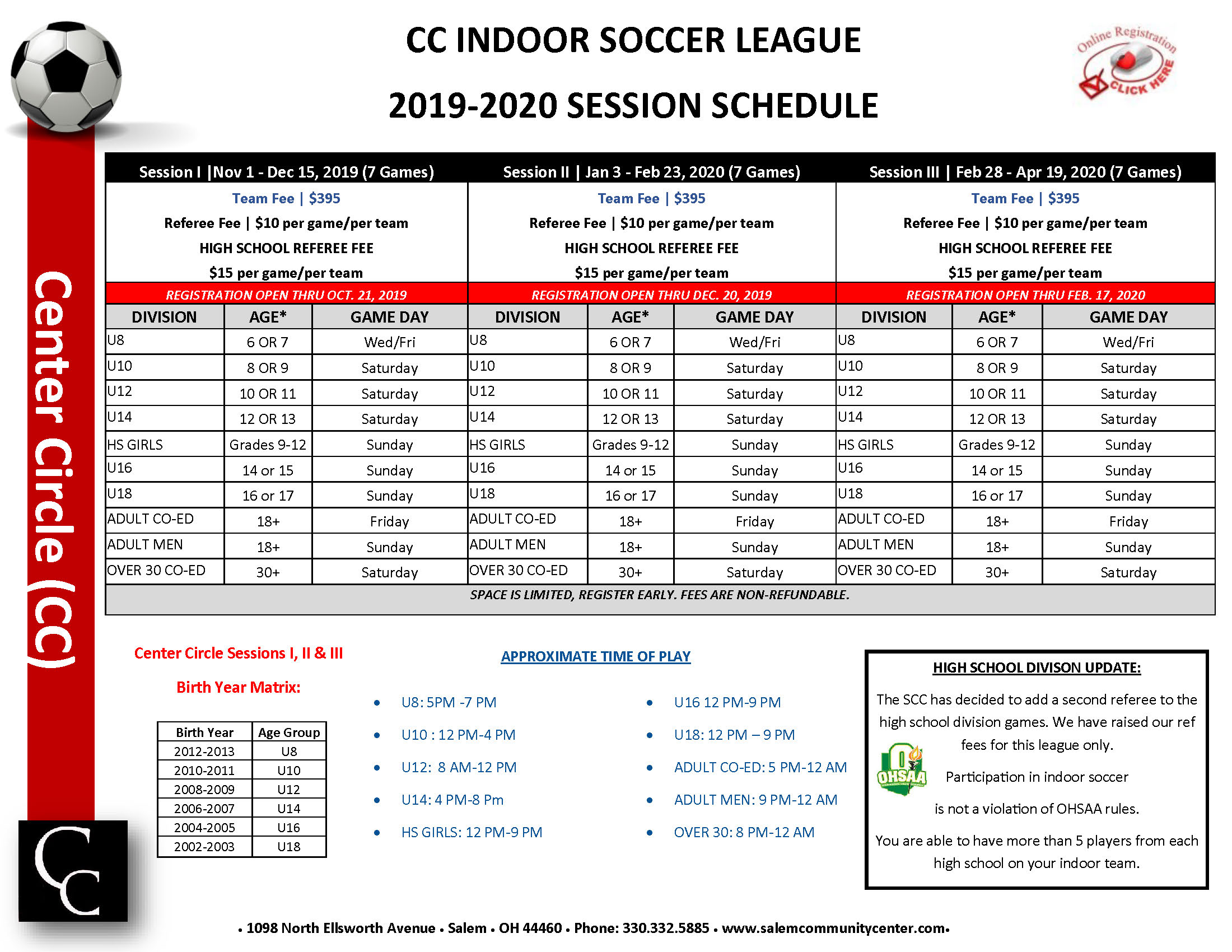 2019 2020 Sessions Soccer Flyer2