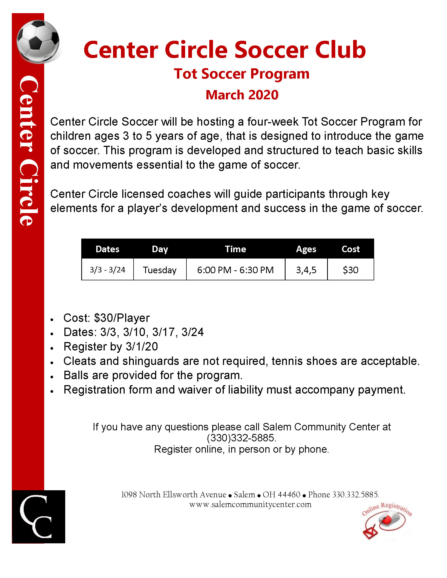 CCS Tot Soccer Program March 2020