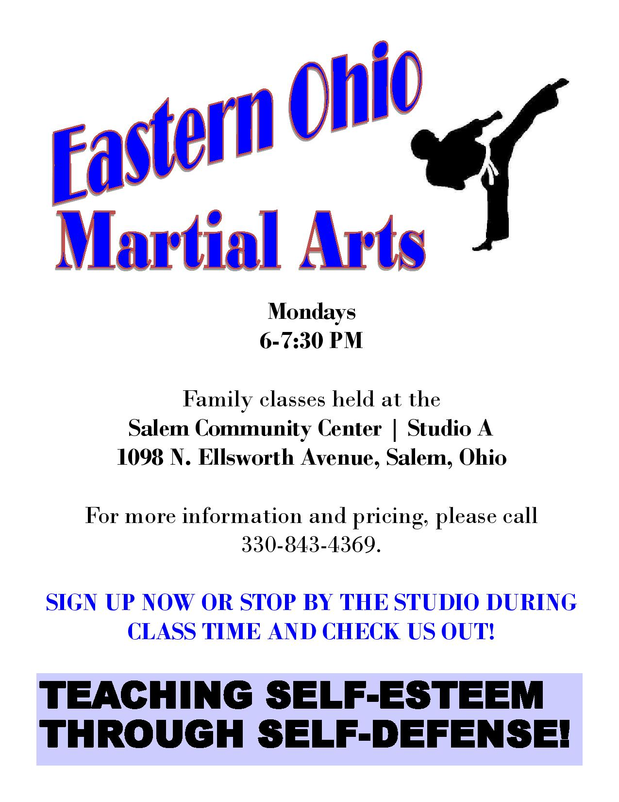 Eastern Ohio Martial Arts Flyer page 001