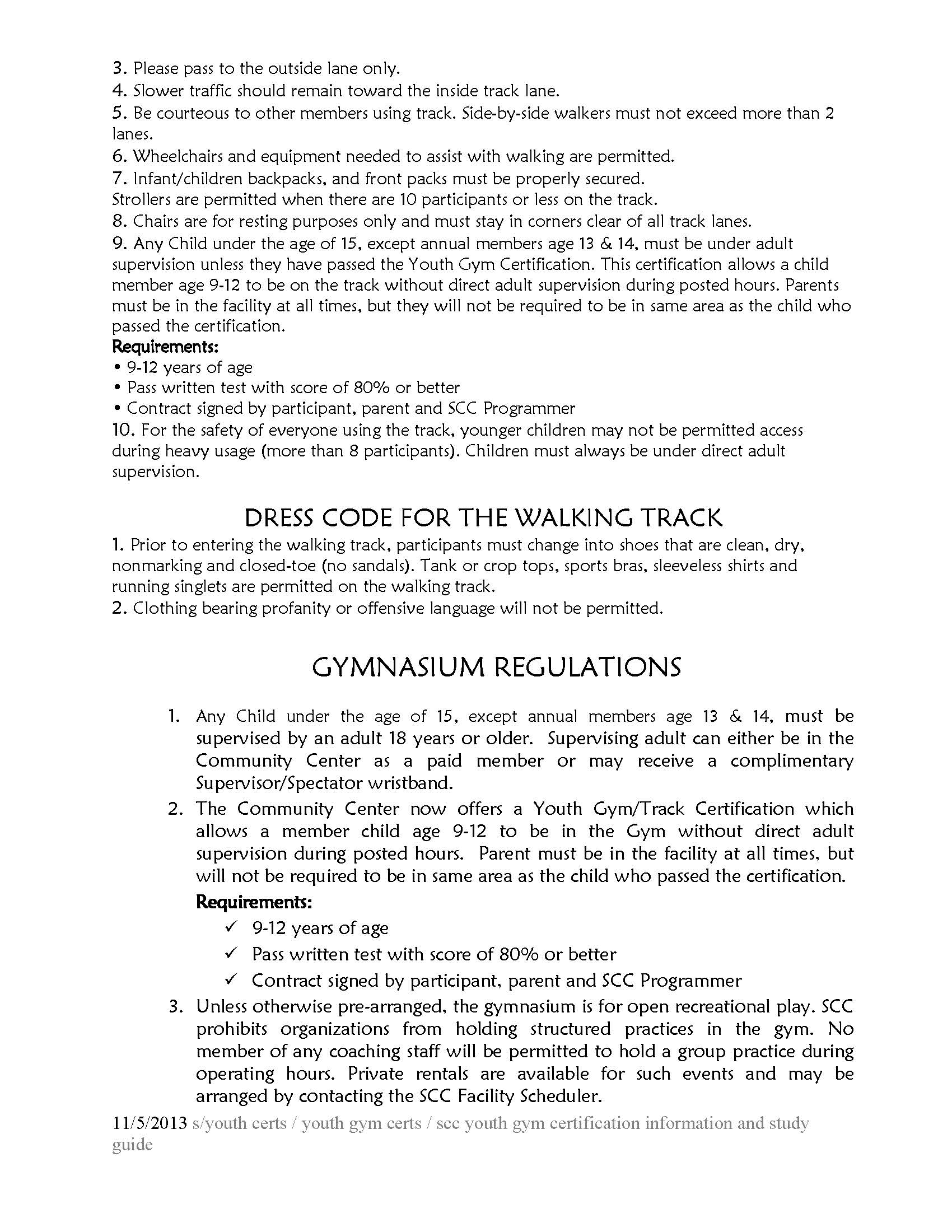 gym track certification Page 2