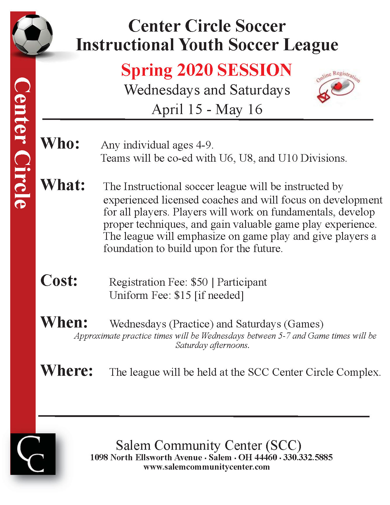 Rec Youth Indoor Soccer SpringSession 2020 2